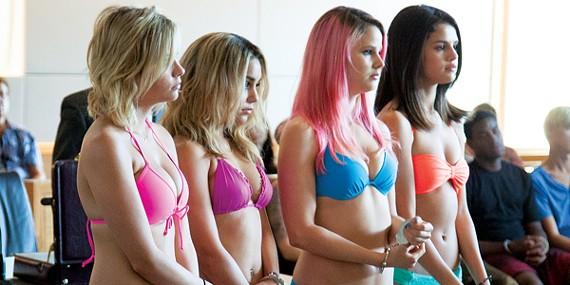 Ashley Benson, Vanessa Hudgens, Rachel Korine, and Selena Gomez
