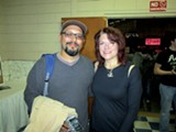 Author Greg Neri with Johnny's daughter Rosanne Cash