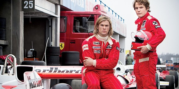 Auto gladiators Chris Hemsworth and Daniel Brühl in Rush
