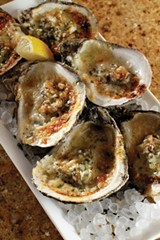 JUSTIN FOX BURKS - baked oysters with lemon and Parmesan
