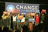 Barack Obama addresses a rally in Rochester, New Hampshire - JACKSON BAKER