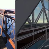 Before and after images of Big River Crossing