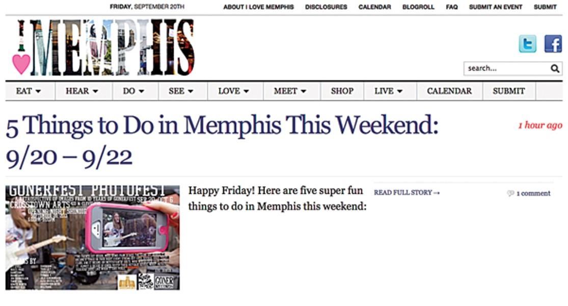 BEST BLOG: I Love Memphis