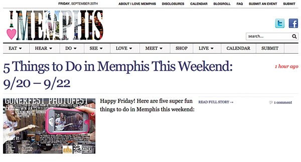 BEST BLOG: I Love Memphis