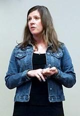 Bev Shelley makes her appeal - JACKSON BAKER