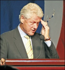 Bill Clinton at the Jackson Day dinner in Nashville - JACKSON BAKER