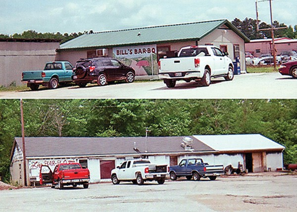 Bill's Pit Bar-B-Q (top); Liz's Pit Bar-B-Que (above)
