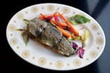Bounty on Broad's Stuffed Mountain Trout - JOHN MINERVINI