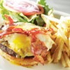 Breakfast Burger at Majestic Grille