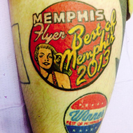 Best of Memphis Winner Gets <i>Memphis Flyer</i> Tattoos
