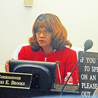 Brooks at Monday's Commission meeting
