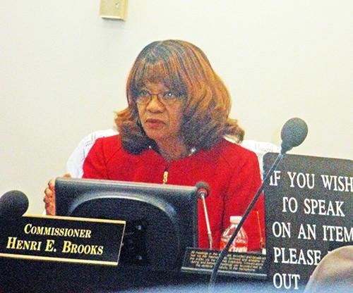 Brooks at Mondays Commission meeting