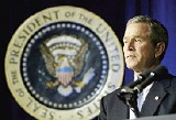 Bush: oddly disconnected from the reality of the war he launched