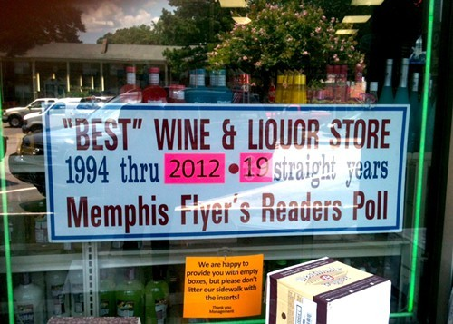 Buster's Liquor Store has dominated the Best Liquor category since the beginning in 1994.