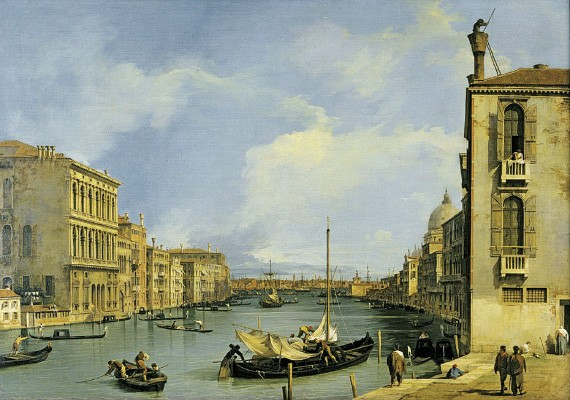 Canaletto, The Grand Canal from the Campo San Vio