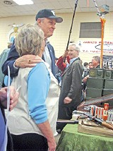 JACKSON BAKER - Candidate Thompson tried to win supporters at a Columbia, South Carolina, gunshow last week, but most patrons were more interested in shotguns.