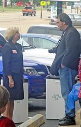 Carol Chumney with campaign aide Rick Maynard - JACKSON BAKER
