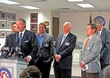 JACKSON BAKER - Chairman David Pickler and members of the Shelby County Schools board at their press conference on January 3rd