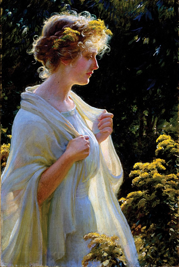 Charles Courtney Curran, The Golden Profile - NORTON MUSEUM OF ART, WEST PALM BEACH, FLORIDA, GIFT OF MR. AND MRS. WILEY R. REYNOLDS, SR.