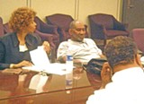 JB - Charter commission members Sharon Webb, chairman George Brown, and Myron Lowery