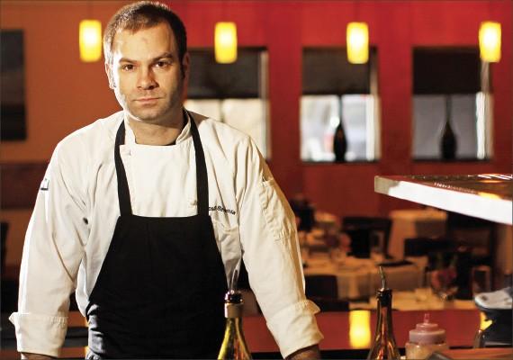 Chef Josh Belenchia overhauls Interim's menu four times a year.