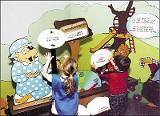 Children interact with the Berenstain Bears exhibit