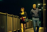 Chloë Grace Moretz and Denzel Washington in The Equalizer.
