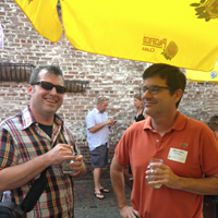 The Flyer's Who's Who of Twitter Tweetup in Pictures! Chris Davis and Roy Barnes (@GatesofMemphis)