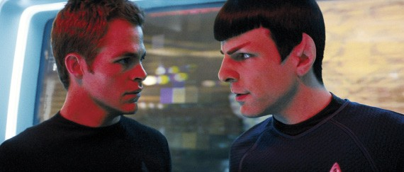 Chris Pine and Zachary Quinto as you know who