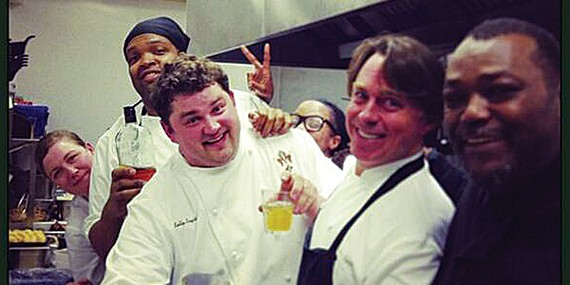 Christensen, Nutter, and English with John Besh