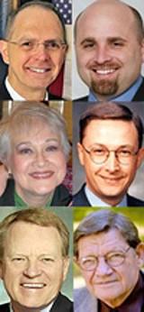 Clockwise from top left: Flinn, Stephens, Taylor, Willingham, Sammons, and Loeffel