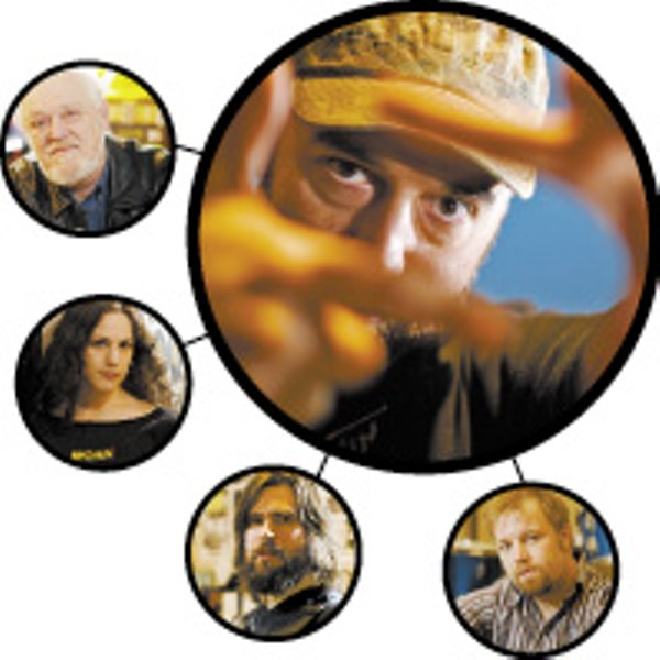 Clockwise from top right: - Craig Brewer and his Memphis character actors Jeff Pope, Jason Freeman, Amy LaVere, and John Still - JUSTIN FOX BURKS
