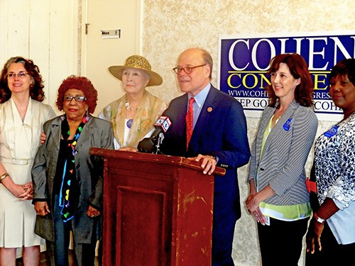 Cohen with womens group on Monday