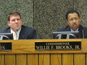 Commissioners David Reaves and Willie Brooks gave a serious listen. - JB