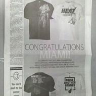 Congratulations, Miami Heat!!