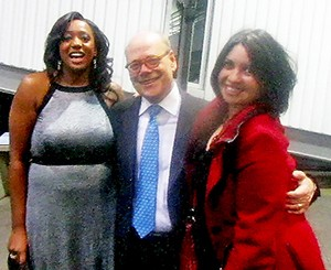 Congressman Cohen with attendees London Lamar (left) and Liz Rincon