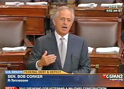 Corker on the Senate floor Thursday