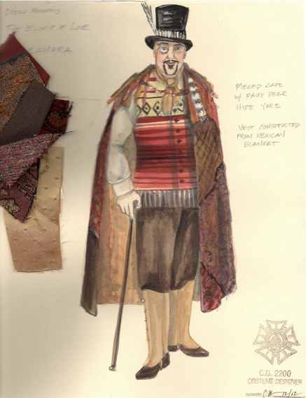 Costume Design for Dr. Dulcamara
