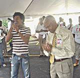 County mayor A C Wharton with American Idol contestant Gedeon McKinney - JB