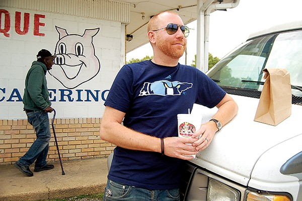 Craig David Meek pays a visit to A&R Bar-B-Que in South Memphis - TOBY SELLS