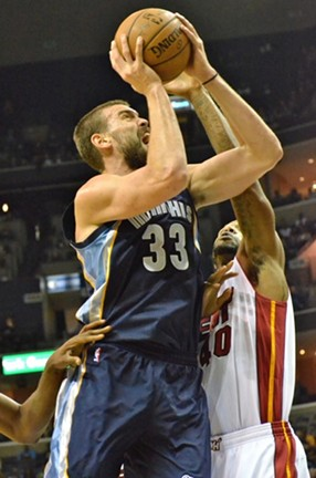 Marc Gasol and the rest of the Grizzlies have their work cut out for them this month. - LARRY KUZNIEWSKI