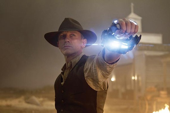 Daniel Craig rustles up space varmints in Cowboys and Aliens.