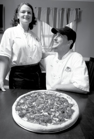 Daniela Wogh and Terry Bomar, owners of the Pizza Shack - JUSTIN FOX BURKS