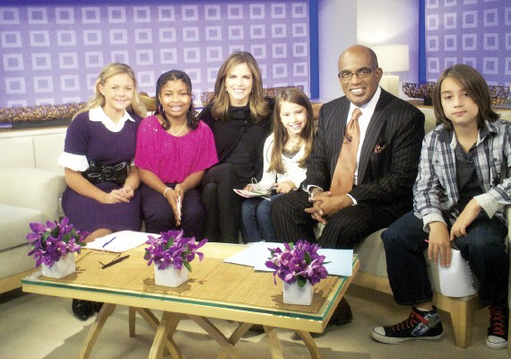 Deidra Shores (second from left) and the other finalists with Natalie Morales and Al Roker