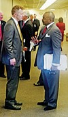 Democrats like Memphis state representative G.A. Hardaway (right) have to deal with right-wing gonzos like state senator Stacey Campfield of Knoxville.