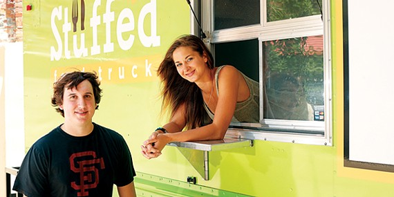 Derek King and fiancée Hannah Bailey of Stuffed Food Truck