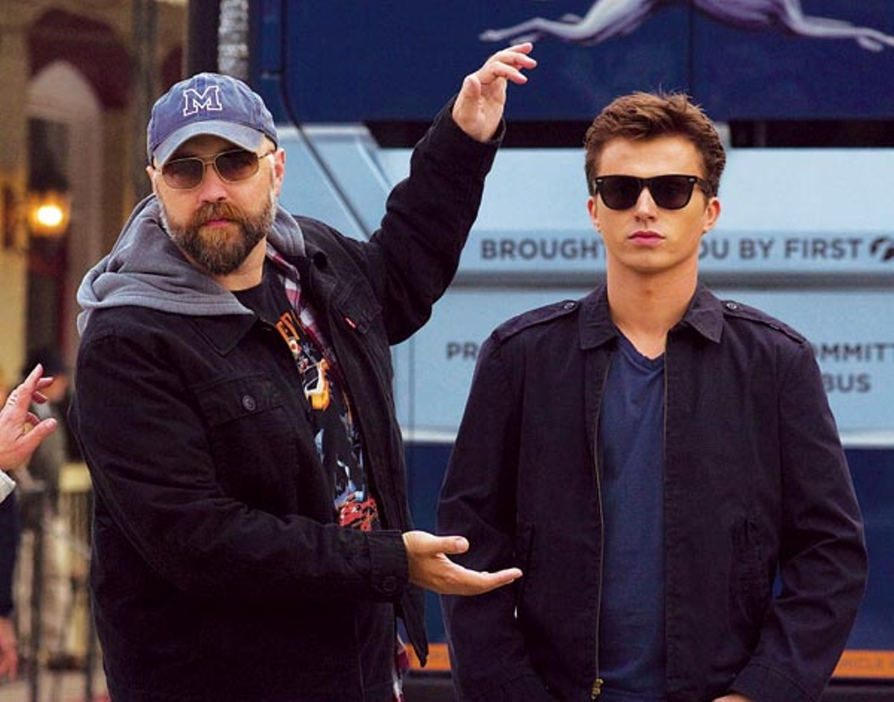 8e62232bbc ... K.C. BAILEY - Director Craig Brewer with leading man Kenny Wormald on  the set of Footloose