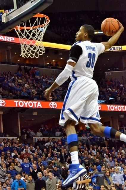 D.J. Stephens doing what D.J. Stephens does.