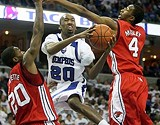 US PRESSWIRE - Doneal Mack fights through the Houston defense.