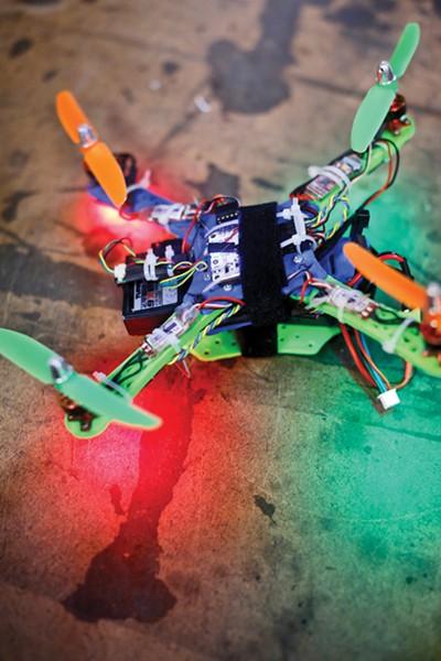 Donndelinger's quad helicopter - JUSTIN FOX BURKS